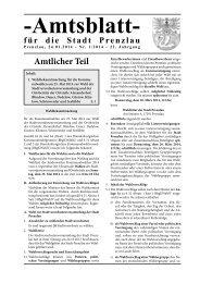 Amtsblatt 1-2014 (123.2 KB application/pdf) - Stadt Prenzlau