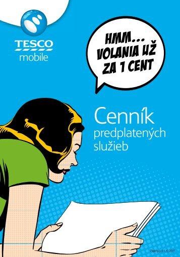 Cenník - Prepaid MVNO