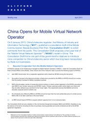 China Opens for Mobile Virtual Network Operator - Prepaid MVNO