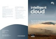 Intelligent Cloud Brochure - Manx Telecom