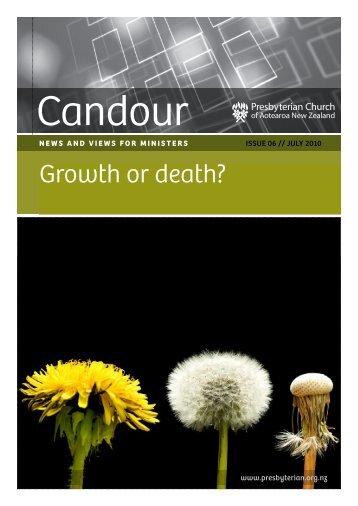 Growth or death? - Presbyterian Church of Aotearoa New Zealand
