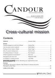 Cross-cultural mission - Presbyterian Church of Aotearoa New ...