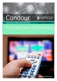 October 2010: The public face of Christianity - Presbyterian Church ...
