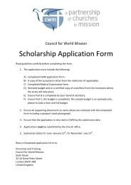council for world mission scholarship application form