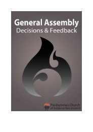 Part 3 Assembly Decisions - Presbyterian Church of Aotearoa New ...
