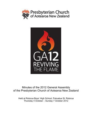 Download the minutes of GA12 - Presbyterian Church of Aotearoa ...