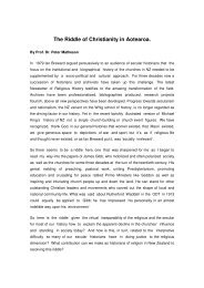 The Riddle of Christianity in Aotearoa. - Presbyterian Church of ...