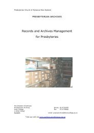 Records and Archives Management for Presbyteries - Presbyterian ...
