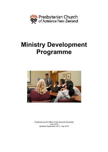 Ministry Development Programme - Presbyterian Church of ...
