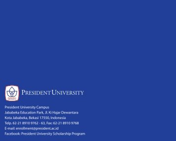 Dormitory Brochure 2010 - President University
