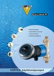 VORTEX- käyttövesipumput - Deutsche Vortex Gmbh & Co. KG