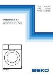 Waschmaschine Bedienungsanleitung - Quelle