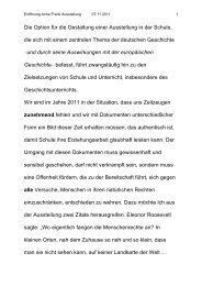 Auszug aus der Rede des Schulleiters Kurt Schenk anlässlich ... - Blog