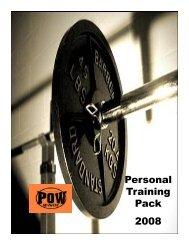 Personal Training Pack 2008 - Emirates Leisure Retail