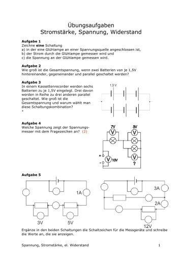 E2 Leiter und Isolatoren - Strom, Spannung, Widerstand