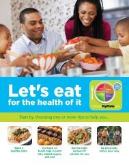 Let's Eat for the Health of It - US Department of Agriculture