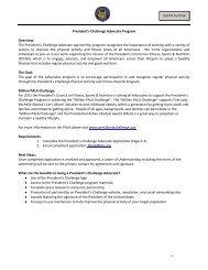 The President's Challenge Advocate partnership program ...