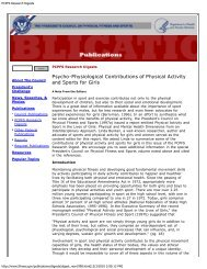 PCPFS Research Digests - The President's Challenge