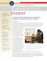 Health Risks of Sedentary Behaviour and Opportunities for Change