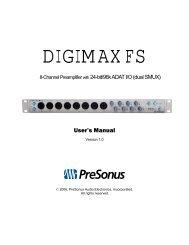 DigiMax FS Manual - PreSonus