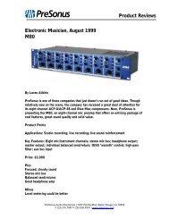 EM M80 review Aug99 - PreSonus
