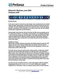 EM VXP review June01 - PreSonus