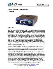 Guitar Alliance COMP16 review Feb04 - PreSonus