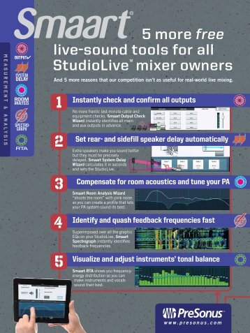 5 more free live-sound tools for all StudioLive™ mixer ... - PreSonus