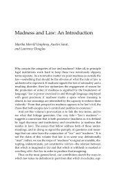 Madness and Law: An Introduction - The University of Michigan Press