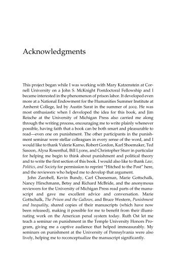 taking trade to acknowledgments the university of michigan press