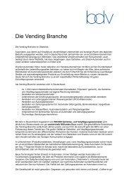Die Vending Branche - Press1