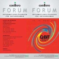 Programm-Katalog COMiNFO Forum Cebit 2005 - press1