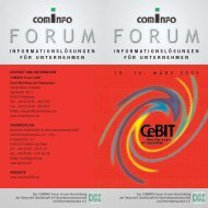 Programm-Katalog COMiNFO Forum Cebit 2005 - press1