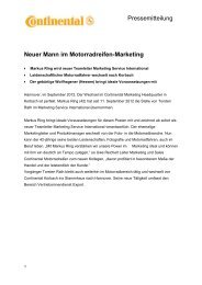 Neuer Mann im Motorradreifen-Marketing Pressemitteilung Gute ...
