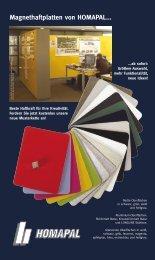 Magnethaftplatten von HOMAPAL... - Press1