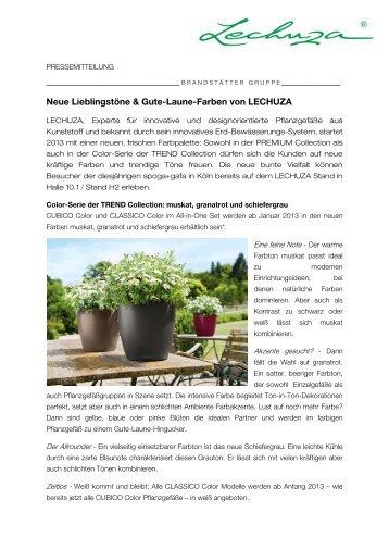 Neue Lieblingstöne & Gute-Laune-Farben von LECHUZA - Press1