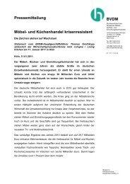 Pressemitteilung Möbel- und Küchenhandel krisenresistent ... - Press1