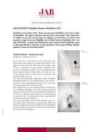 JAB ANSTOETZ Frühjahr/Sommer Kollektion 2011 - Press1