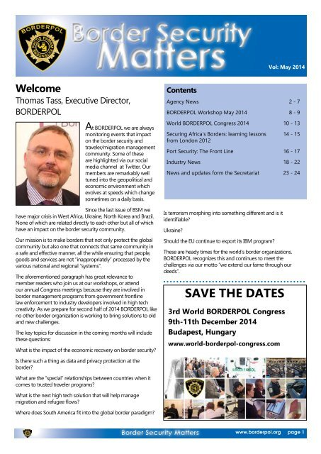 Border Security Matters May 2014