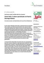 Gusto Italia: il salone specializzato nel food & beverage ... - Press1