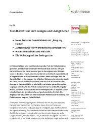 Trendbericht zur imm cologne und LivingKitchen - press1