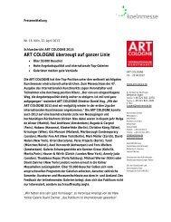 Schlussbericht ART COLOGNE 2013 - Press1