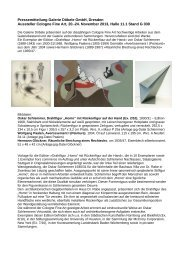 Pressemitteilung Galerie Döbele GmbH, Dresden ... - Press1