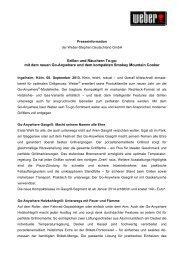 Grillen und Räuchern To-go: mit dem neuen Go-Anywhere ... - Press1