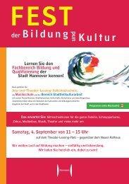 Bildung und Kultur - Presseserver der Landeshauptstadt Hannover