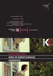 November 2011 KINo Im KÜNSTLerhAUS hANNover - Presseserver ...