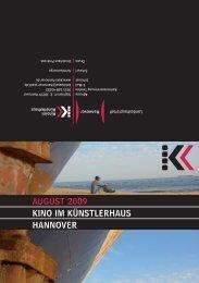 August 2009 KINO IM KÜNstLERhAus hANNOVER - Presseserver ...