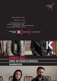 August 2011 KINO IM KÜNstLERhAus hANNOVER - Presseserver ...