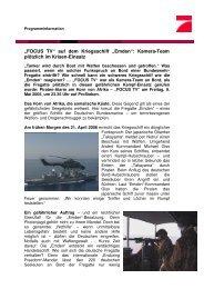 """""""FOCUS TV"""" auf dem Kriegsschiff """"Emden"""": Kamera ... - ProSieben.de"""