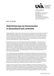Diskriminierung von Konsumenten in Deutschland weit verbreitet